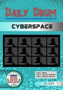 Front page of Daily Drum issue by Team Cyberspace