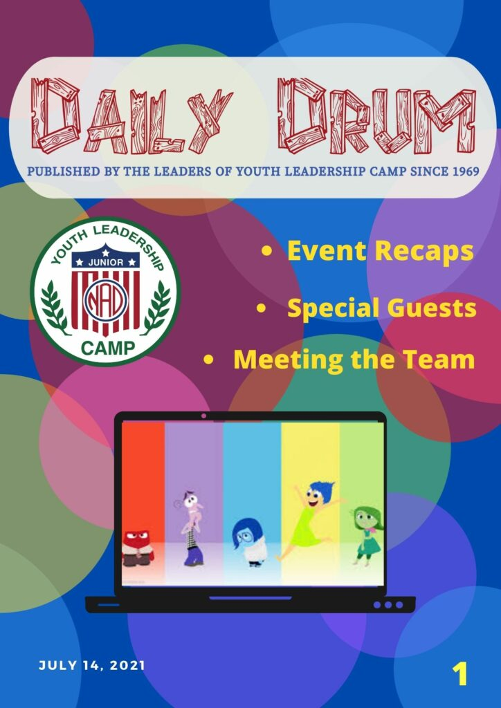 Front page of Daily Drum issue by Team Insouts